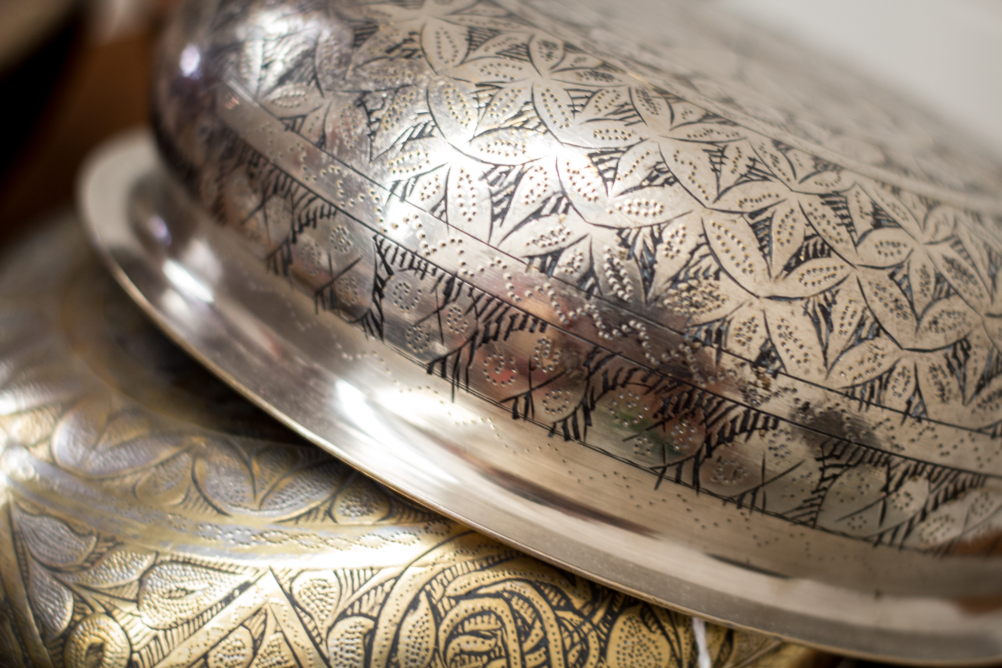 Ottoman Period 19th Century Hamam engraved and decorated Bowls