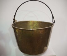 Brass Pan Bucket with handle Ottoman, Turkish Homewares