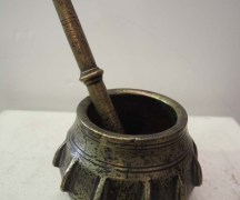 Antique Ottoman Homeware and Kitchenware bronze mortar and pestle