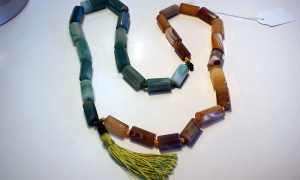 Turkish Jewellery Polished and cut Agate necklace