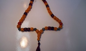 Turkish Jewellery Vintage compressed amber & silver necklace