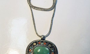Silver & Jadetite Necklace