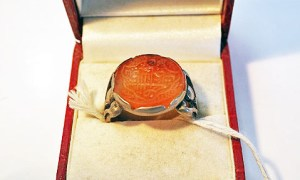 """""""My wish is from God for all the best"""" Stirling silver ring"""