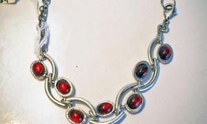 Glass and Nickel Turkish Bracelet