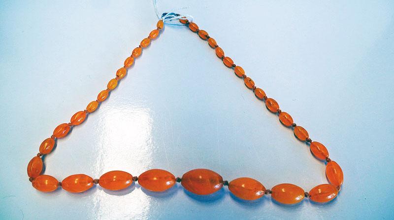 Turkish Vintage amber glass