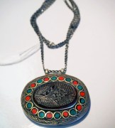 Turkoman silver & carved stone