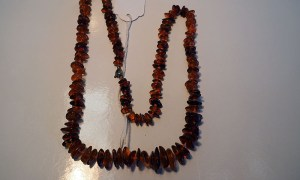 Tumbled amber necklace from the Baltic