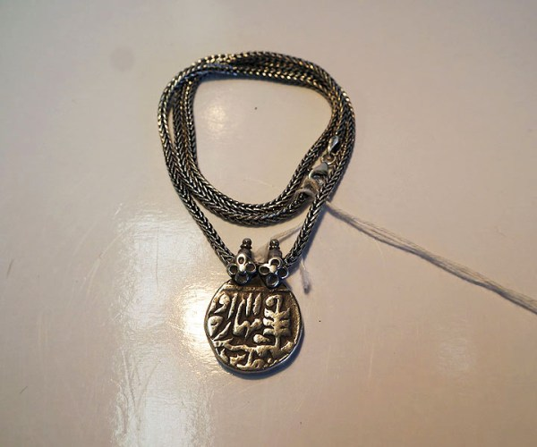 19th century moghul coin necklace