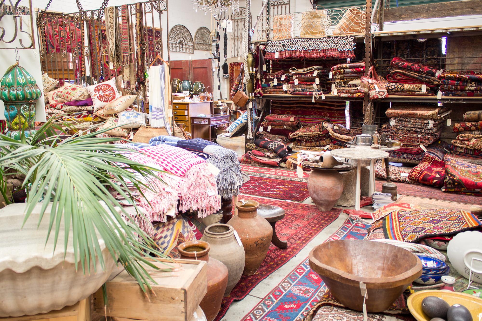 Ottoman Empire antiques, rugs shop picture