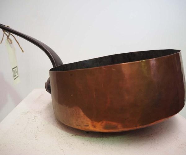 19th century copper sauce pan