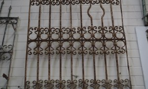 Antique Ottoman grille wrought iron