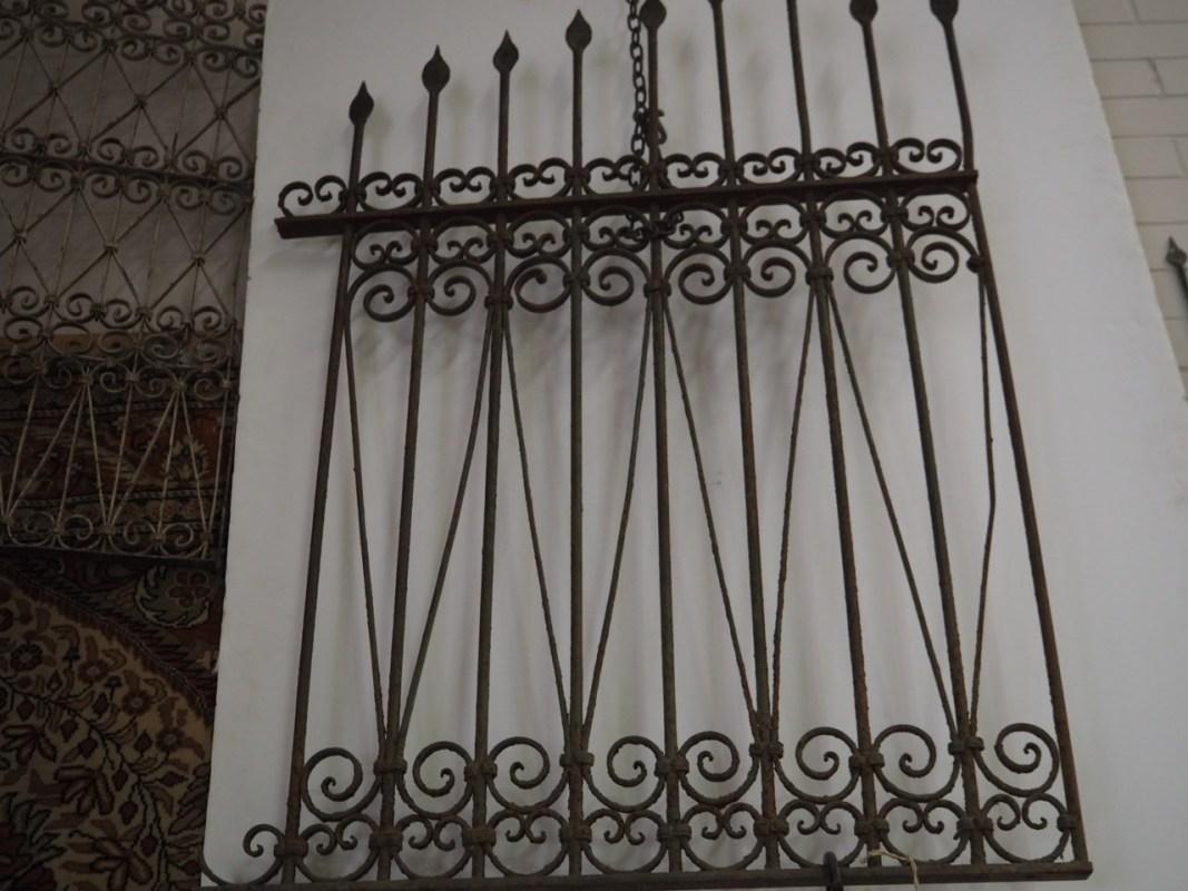 Antique Ottoman period wrought iron grille