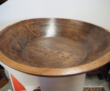 Fabulous Ottoman period turned wooden food bowl