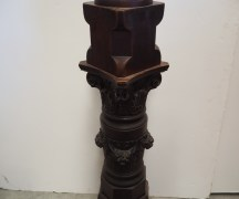 Late 19th century Australian cedar Newel post