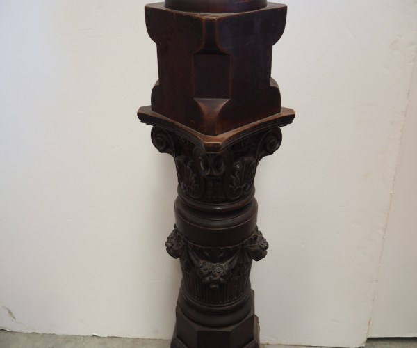 Late 19th century Australian cedar Newel post
