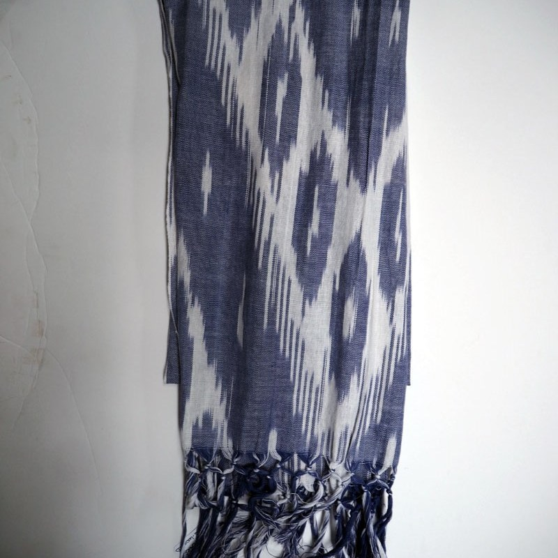 Turkish cotton ikat hand loomed scarf