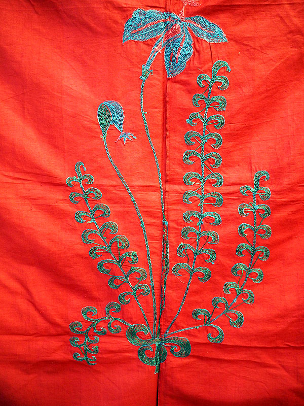 Vintage Suzani Iris Motif