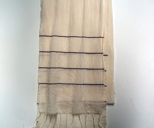 Turkish Hand loomed silk crepe scarf