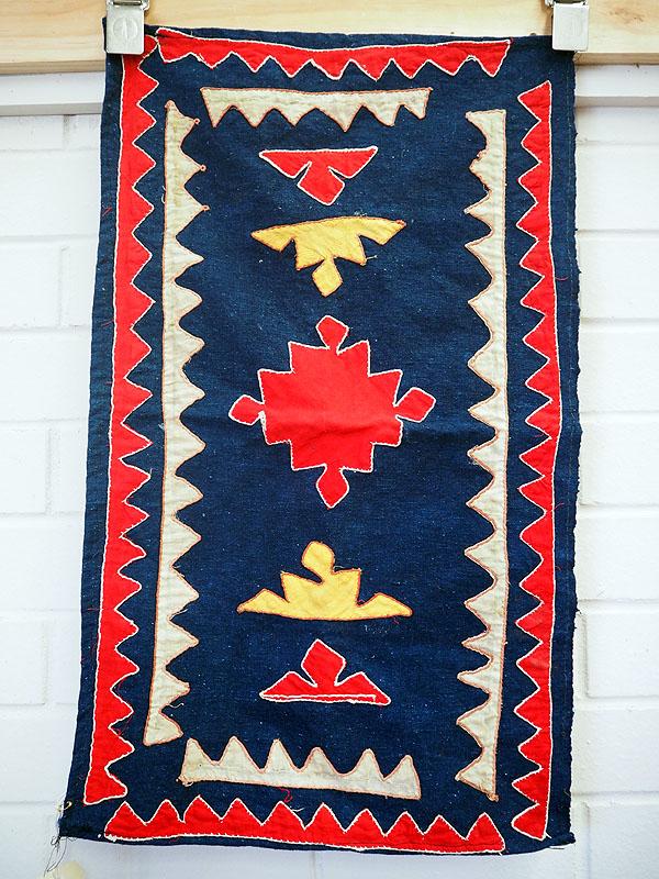 Vintage cotton patchwork cover from Uzbekistan