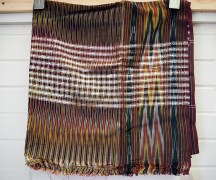 Early 20th century hand loomed Rayon Hamam towel