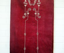 Early 20th century Syrian silk embroidered hanging
