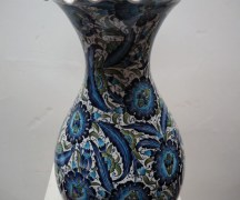 Finely painted Iznik style vase from Kutahya