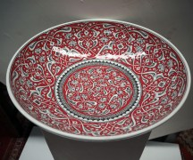 Hand painted Iznik style Turkish bowl