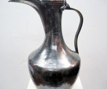 Ottoman period 19th century tinned copper ewer/jug
