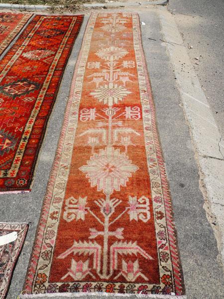 Hand made wool on wool Iraqi Kurdish Herki runner, approximately 40 years old