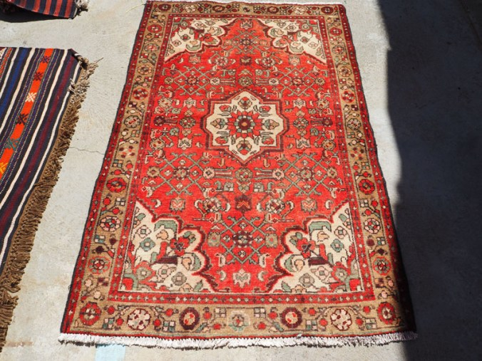 Hand knotted wool on cotton Persian carpet Tabriz Zenjan, approximately 50 - 60 years old