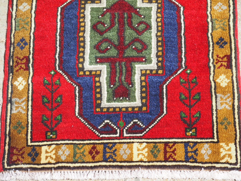 Hand made double knotted wool on wool carpet from Sivas, approximately 40 years old