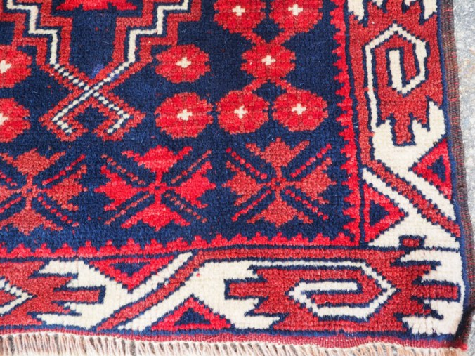 Double knotted hand made wool on wool Turkish carpet from Bergama, approximately 30 - 40 years old