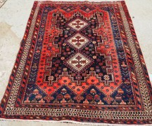 Hand knotted wool on cotton Persian carpet Sirjan Avshar, approximately 60 years old