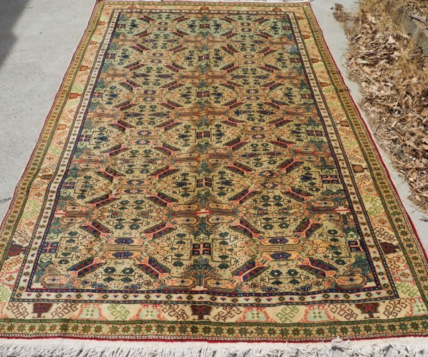 Double knotted Hand made Turkish Wool Carpet from Kayseri. Approximately 60 years old