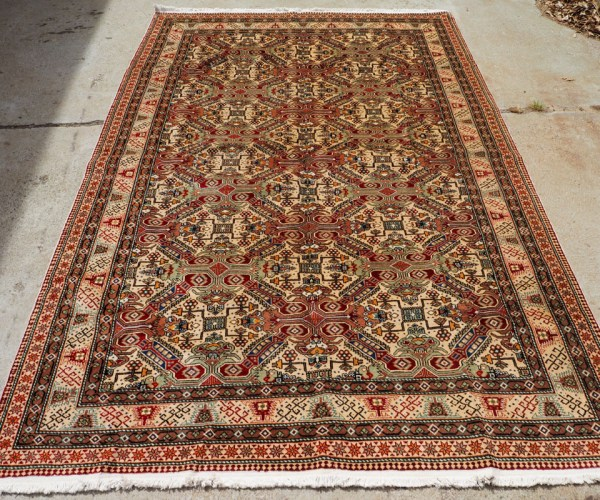 Hand made double knotted Turkish wool carpet from Kayseri, approximately 50 years old
