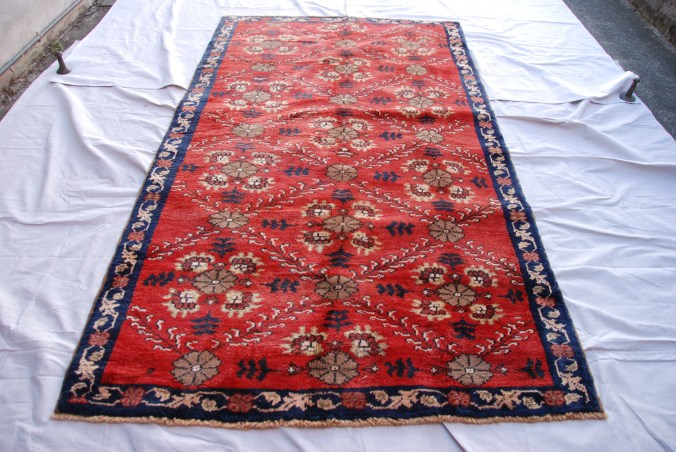 T787 Konya Karapinar hand double knotted wool on wool carpet approximately 60 years old 2.24 x 1.29 $1,295.00