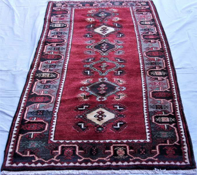 T849 Antalya Dosemalte hand double knotted wool on cotton carpet approximately 30 years old 1.94 x 1.03 $1,095.00