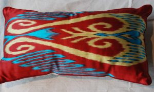 C206 Turkish Silk Ikat Cushion