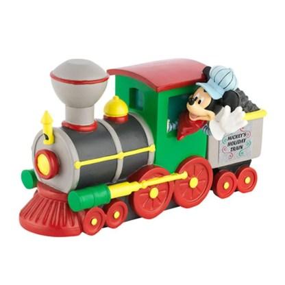 """Otto's Granary Mickey's Merry Christmas Village """"Mickey's Holiday Train"""" Engine Accessory"""