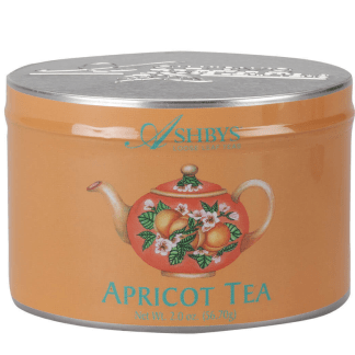 Apricot Loose Leaf Tea Tin by Ashbys