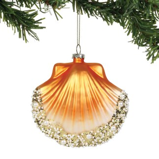 Coast to Coast Pearl Gold Scallop Shell Ornament by Department 56 - 6003939