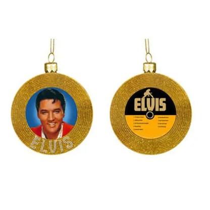Otto's Granary Elvis Presley gold Record Glass Ornament