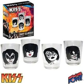 KISS Classic 2oz. Shot Glasses Set of 4