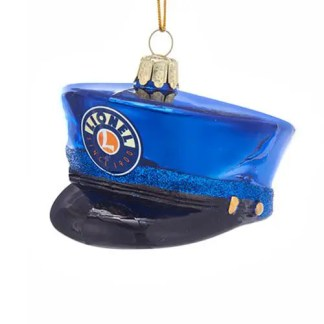 Lionel Conductor Hat 3 1/2-Inch Glass Ornament