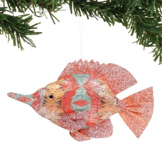Pacific Gold Watercolor Fish Ornament - Coast to Coast by Department 56 6004604