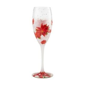 Prosecco Glass Poinsettias in Snow by Lolita 6004438