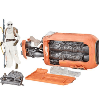 Star Wars The Black Series Rey's Speeder Vehicle with Rey Action Figure
