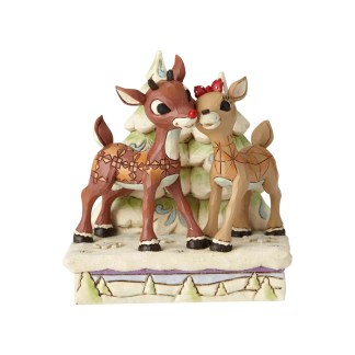 Rudolph The Red-Nosed Reindeer Rudolph and Clarice by Trees Rudolph Traditions by Jim Shore - 6001588
