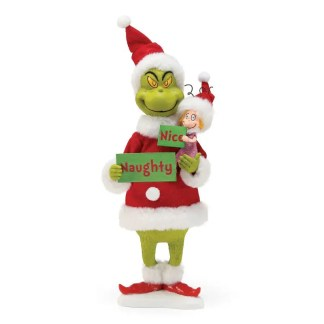 """Otto's Granary Naughty or Nice """"All the Trimmings!"""" Grinch Santa Figurine by Possible Dreams"""