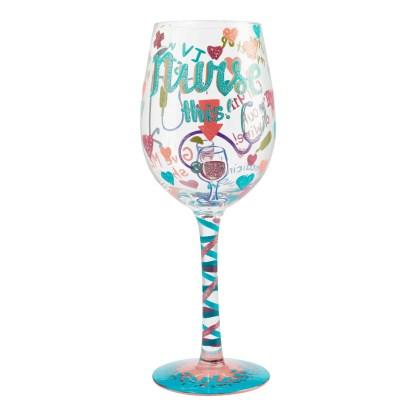 Otto's Granary Nurse This 15oz. Wine Glass by Lolita